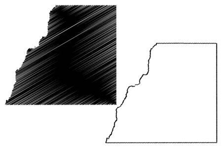 La Plata County, Colorado (U.S. county, United States of America,USA, U.S., US) map vector illustration, scribble sketch La Plata map