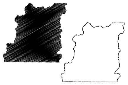 Lake County, Colorado (U.S. county, United States of America,USA, U.S., US) map vector illustration, scribble sketch Lake map
