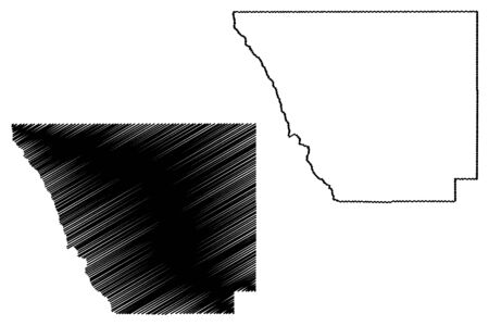 Larimer County, Colorado (U.S. county, United States of America,USA, U.S., US) map vector illustration, scribble sketch Larimer map
