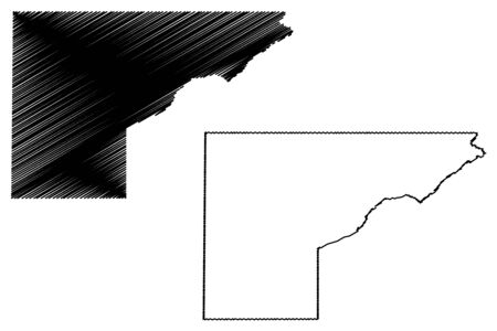 Mesa County, Colorado (U.S. county, United States of America,USA, U.S., US) map vector illustration, scribble sketch Mesa map Illusztráció