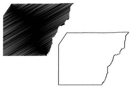 Montezuma County, Colorado (U.S. county, United States of America,USA, U.S., US) map vector illustration, scribble sketch Montezuma map Illusztráció