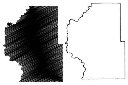 Park County, Colorado (U.S. county, United States of America,USA, U.S., US) map vector illustration, scribble sketch Park map Illusztráció