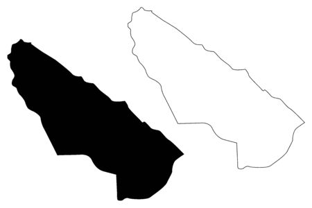 Kisela Voda Municipality (Republic of North Macedonia, Skopje Statistical Region, Greater Skopje) map vector illustration, scribble sketch Kisela Voda map