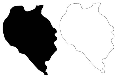 Sveti Nikole Municipality (Republic of North Macedonia, Vardar Statistical Region) map vector illustration, scribble sketch Sveti Nikole map Ilustracja