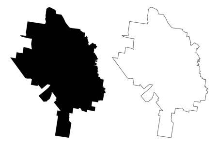 Toowoomba City, Queensland (Commonwealth of Australia, Australia city) map vector illustration, scribble sketch City of Toowoomba map