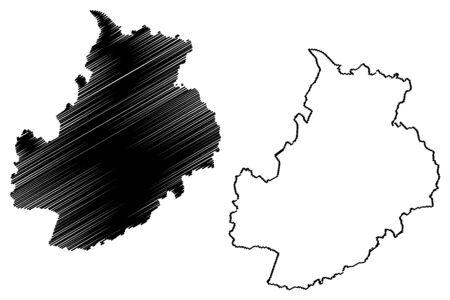 Jarva County (Republic of Estonia, Counties of Estonia) map vector illustration, scribble sketch Jarvamaa map