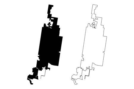 McAllen City, Texas (United States cities, United States of America, usa city) map vector illustration, scribble sketch City of McAllen map Illusztráció