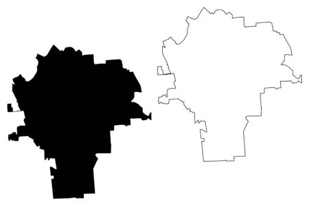 Syracuse City, New York (United States cities, United States of America, usa city) map vector illustration, scribble sketch City of Syracuse map Illusztráció