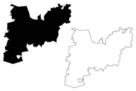 Ape Municipality (Republic of Latvia, Administrative divisions of Latvia, Municipalities and their territorial units) map vector illustration, scribble sketch Ape map
