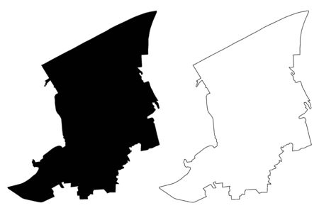 Dundaga Municipality (Republic of Latvia, Administrative divisions of Latvia, Municipalities and their territorial units) map vector illustration, scribble sketch Dundaga map Ilustrace