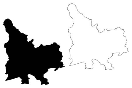 Durbe Municipality (Republic of Latvia, Administrative divisions of Latvia, Municipalities and their territorial units) map vector illustration, scribble sketch Durbe map Ilustrace