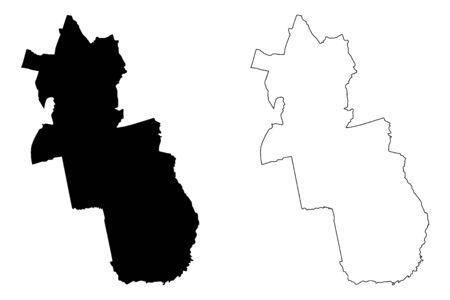 Grobina Municipality (Republic of Latvia, Administrative divisions of Latvia, Municipalities and their territorial units) map vector illustration, scribble sketch Grobina map Illustration