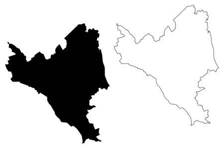 Ilukste Municipality (Republic of Latvia, Administrative divisions of Latvia, Municipalities and their territorial units) map vector illustration, scribble sketch Ilukste map Illustration