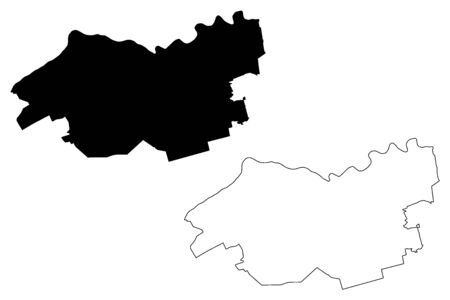Incukalns Municipality (Republic of Latvia, Administrative divisions of Latvia, Municipalities and their territorial units) map vector illustration, scribble sketch Incukalns map