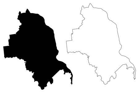 Jekabpils Municipality (Republic of Latvia, Administrative divisions of Latvia, Municipalities and their territorial units) map vector illustration, scribble sketch Jekabpils map