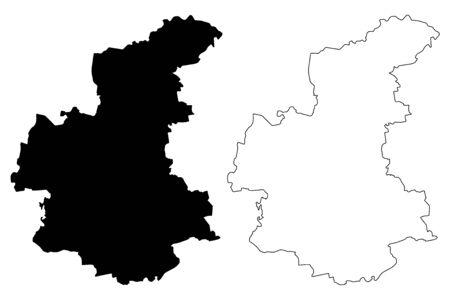 Kandava Municipality (Republic of Latvia, Administrative divisions of Latvia, Municipalities and their territorial units) map vector illustration, scribble sketch Kandava map