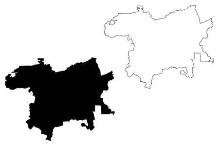Karsava Municipality (Republic of Latvia, Administrative divisions of Latvia, Municipalities and their territorial units) map vector illustration, scribble sketch Karsava map