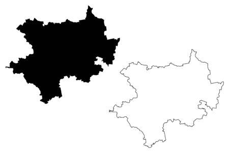 Kuldiga Municipality (Republic of Latvia, Administrative divisions of Latvia, Municipalities and their territorial units) map vector illustration, scribble sketch Kuldiga map Ilustracja
