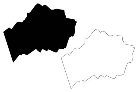 Marupe Municipality (Republic of Latvia, Administrative divisions of Latvia, Municipalities and their territorial units) map vector illustration, scribble sketch Marupe map