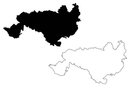 Ogre Municipality (Republic of Latvia, Administrative divisions of Latvia, Municipalities and their territorial units) map vector illustration, scribble sketch Ogre map