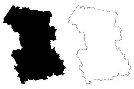 Rezekne Municipality (Republic of Latvia, Administrative divisions of Latvia, Municipalities and their territorial units) map vector illustration, scribble sketch Rezekne map
