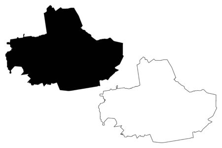 Ropazi Municipality (Republic of Latvia, Administrative divisions of Latvia, Municipalities and their territorial units) map vector illustration, scribble sketch Ropazi map