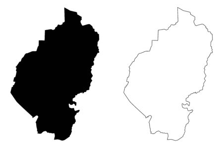 Vilaka Municipality (Republic of Latvia, Administrative divisions of Latvia, Municipalities and their territorial units) map vector illustration, scribble sketch Vilaka map Illustration