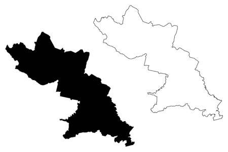 Valka Municipality (Republic of Latvia, Administrative divisions of Latvia, Municipalities and their territorial units) map vector illustration, scribble sketch Valka map  イラスト・ベクター素材