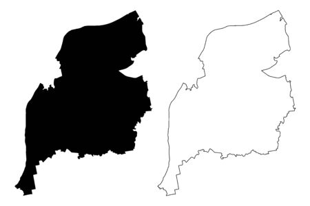 Ventspils Municipality (Republic of Latvia, Administrative divisions of Latvia, Municipalities and their territorial units) map vector illustration, scribble sketch Ventspils map