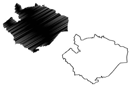 Baldone Municipality (Republic of Latvia, Administrative divisions of Latvia, Municipalities and their territorial units) map vector illustration, scribble sketch Baldone map
