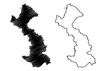Preili Municipality (Republic of Latvia, Administrative divisions of Latvia, Municipalities and their territorial units) map vector illustration, scribble sketch Preili map