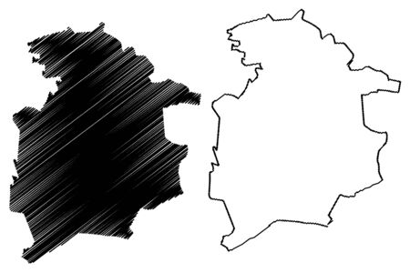 Skriveri Municipality (Republic of Latvia, Administrative divisions of Latvia, Municipalities and their territorial units) map vector illustration, scribble sketch Skriveri map Illustration