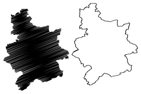 Vainode Municipality (Republic of Latvia, Administrative divisions of Latvia, Municipalities and their territorial units) map vector illustration, scribble sketch Vainode map