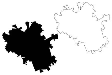Foggia City (Italian Republic, Italy, Apulia) map vector illustration, scribble sketch City of Foggi amap