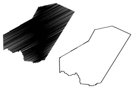 Ali Sabieh Region (Republic of Djibouti, Horn of Africa, Gulf of Aden) map vector illustration, scribble sketch Ali Sabieh map