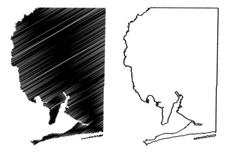 Santa Rosa County, Florida (U.S. county, United States of America, USA, U.S., US) map vector illustration, scribble sketch Santa Rosa map
