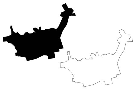 Baia Mare City (Republic of Romania, Maramures County) map vector illustration, scribble sketch City of Baia Mare map Çizim