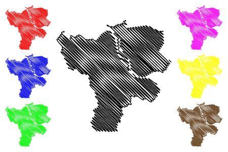 Jelgava City (Republic of Latvia, Administrative divisions of Latvia, Republican cities) map vector illustration, scribble sketch Jelgava map  イラスト・ベクター素材