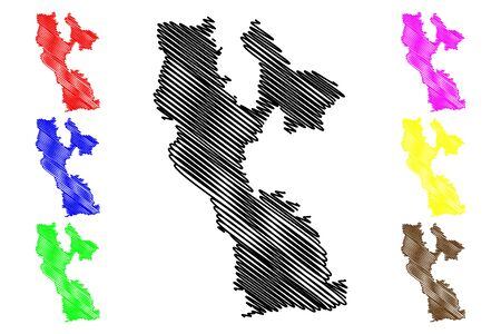 Rujiena Municipality (Republic of Latvia, Administrative divisions of Latvia, Municipalities and their territorial units) map vector illustration, scribble sketch Rujiena map