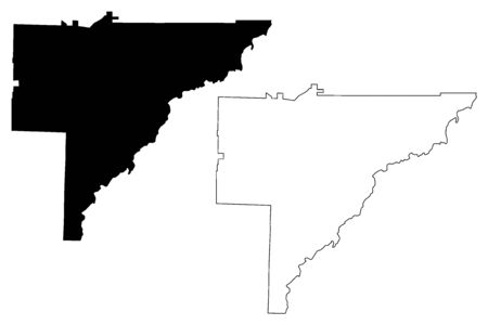 Baker County, Georgia (U.S. county, United States of America,USA, U.S., US) map vector illustration, scribble sketch Baker map Ilustração
