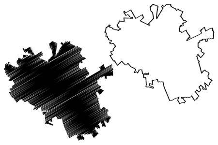 Foggia City (Italian Republic, Italy, Apulia) map vector illustration, scribble sketch City of Foggi amap Ilustrace