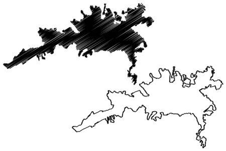 Elazig City (Republic of Turkey, Eastern Anatolia Region) map vector illustration, scribble sketch City of Mamuretulaziz map