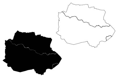 Nashik City (Republic of India, Maharashtra State) map vector illustration, scribble sketch City of Nasik map Ilustração