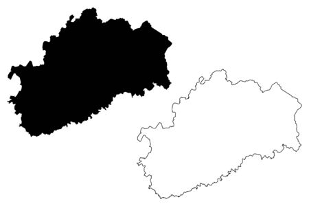 Haute-Saone Department (France, French Republic, Bourgogne-Franche-Comte region, BFC) map vector illustration, scribble sketch Haute Saone map