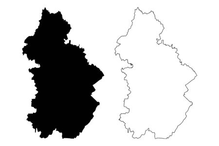 Jura Department (France, French Republic, Bourgogne-Franche-Comte region, BFC) map vector illustration, scribble sketch Jura map