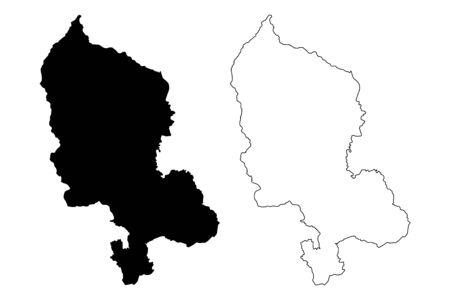 Territoire de Belfort Department (France, French Republic, Bourgogne-Franche-Comte region, BFC) map vector illustration, scribble sketch Territoire de Belfort map