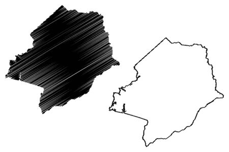 Hancock County, Georgia (U.S. county, United States of America,USA, U.S., US) map vector illustration, scribble sketch Hancock map