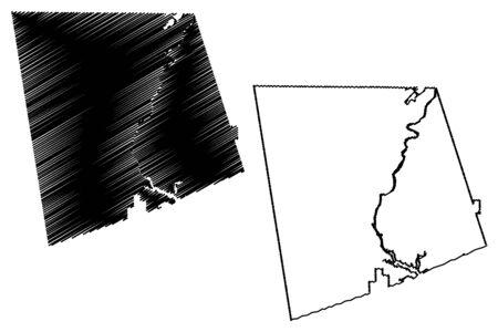 Heard County, Georgia (U.S. county, United States of America,USA, U.S., US) map vector illustration, scribble sketch Heard map