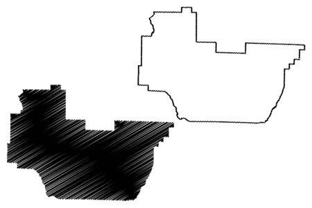 Irwin County, Georgia (U.S. county, United States of America,USA, U.S., US) map vector illustration, scribble sketch Irwin map