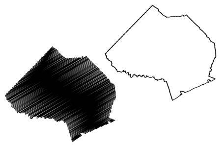 Jackson County, Georgia (U.S. county, United States of America,USA, U.S., US) map vector illustration, scribble sketch Jackson map